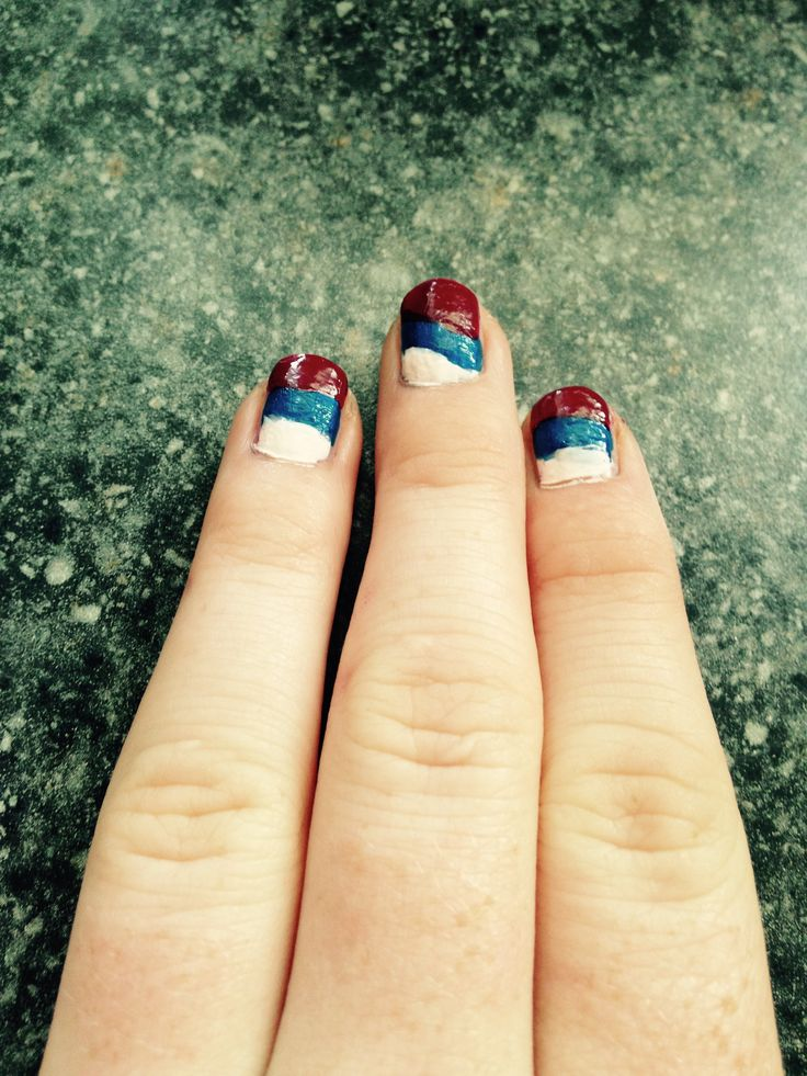 Russian nails happy 12th ( fun fact Russian Independence Day is the 12th of July