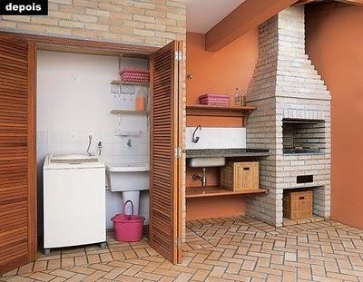 Area de lazer e churrasqueira