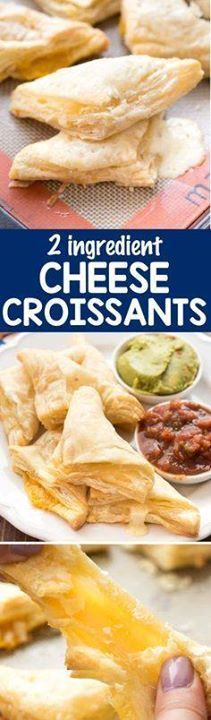 Cheese Croissants  Cheese Croissants  this EASY 2 ingredient...  Cheese Croissants  Cheese Croissants  this EASY 2 ingredient recipe is a great snack lunch or appetizer. Serve them with dips for an extra treat! Recipe : http://ift.tt/1hGiZgA And @ItsNutella  http://ift.tt/2v8iUYW