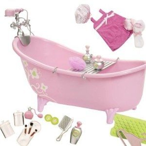 Pink Bathtub Set For 18 Inch Doll