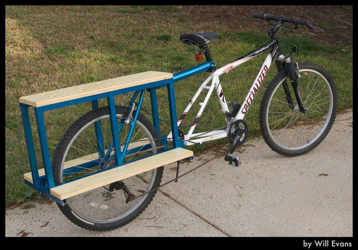 """DIY Xtracycle-styled cargo bike made without a single weld. It's both 26"""" and 29er compatible. Behold the power of rivets!  This is yet another project I started in Google SketchUp and used to the dimensions to help me build the real thing.  Let me know if you'd be interested in a flat-pack cargo bike kit."""