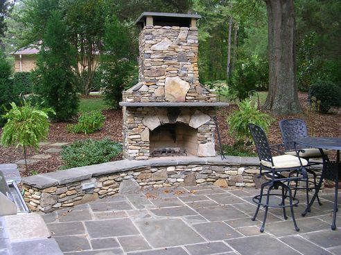 patio  Love the fireplace, but Brian insists that it is not going to happen in this house!  A girl can dream tho..