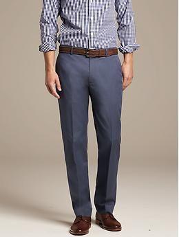 Tailored Slim-Fit Non-Iron Cotton Pant | Banana Republic