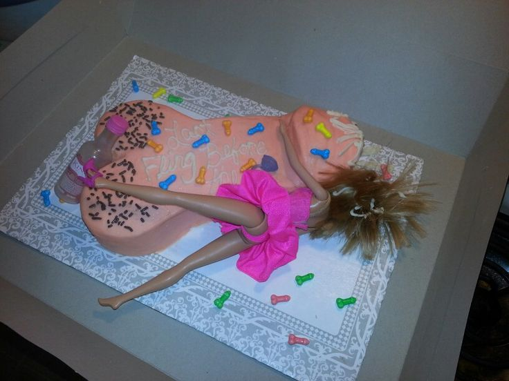 Bachelorette Party Penis Cake #homemade
