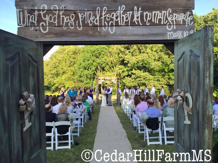 Outdoor Ceremony Country Cedar Hill Farm Hernando Ms