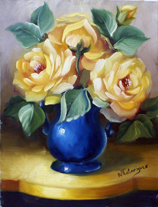 Maher Art Gallery: Rinaldo Escudeiro /Still Life Flower