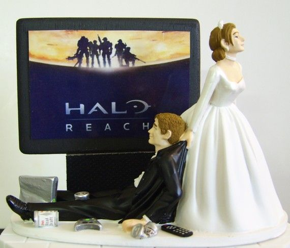 funny wedding cake toppers xbox wedding cake topper by awesome toppers 14610