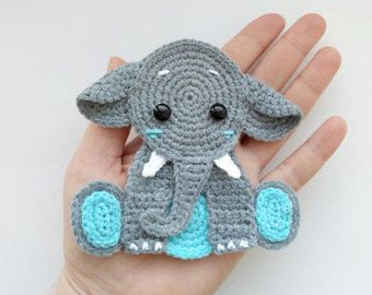 PATTERN Giraffe Applique Crochet Pattern PDF Jungle Animal Pattern Zoo Animal Pattern Instant Download Motif Ornament for Baby Blanket ENG