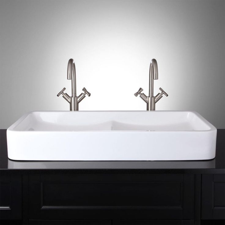 Double Bowl Sink For Bathroom