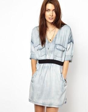 Diesel Chambray Pocket Dress