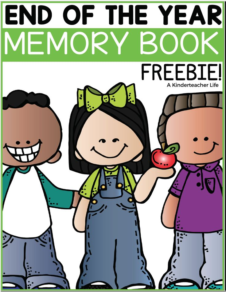 FREEBIE - End of the year memory book for kindergarten to 5th grade! Perfect way to summarize the end of the school year! Topics include: what I learned, favorite field trip, letter from the teacher and much more!