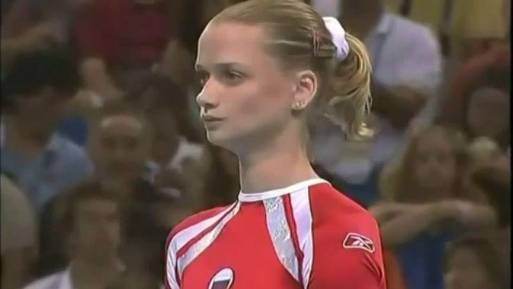 Svetlana Khorkina: The Russian gymnast at Athens 2004 Olympics.  #gymnastics #artisticgymnastics #Khorkina #sports