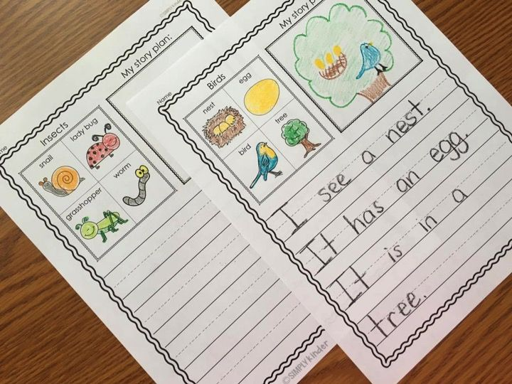 kindergarten writing journals