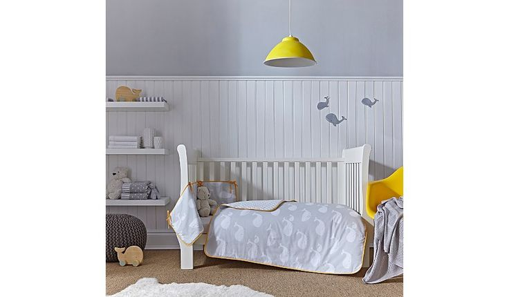Clair De Lune Whales Cot & Cot Bed Quilt and Bumper Set, read reviews and buy online at George at ASDA. Shop from our latest range in Baby. A stylish cool gr...