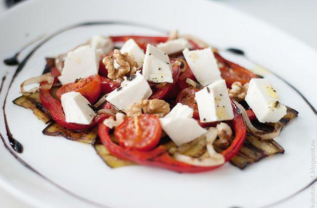 roasted veggies and feta salad