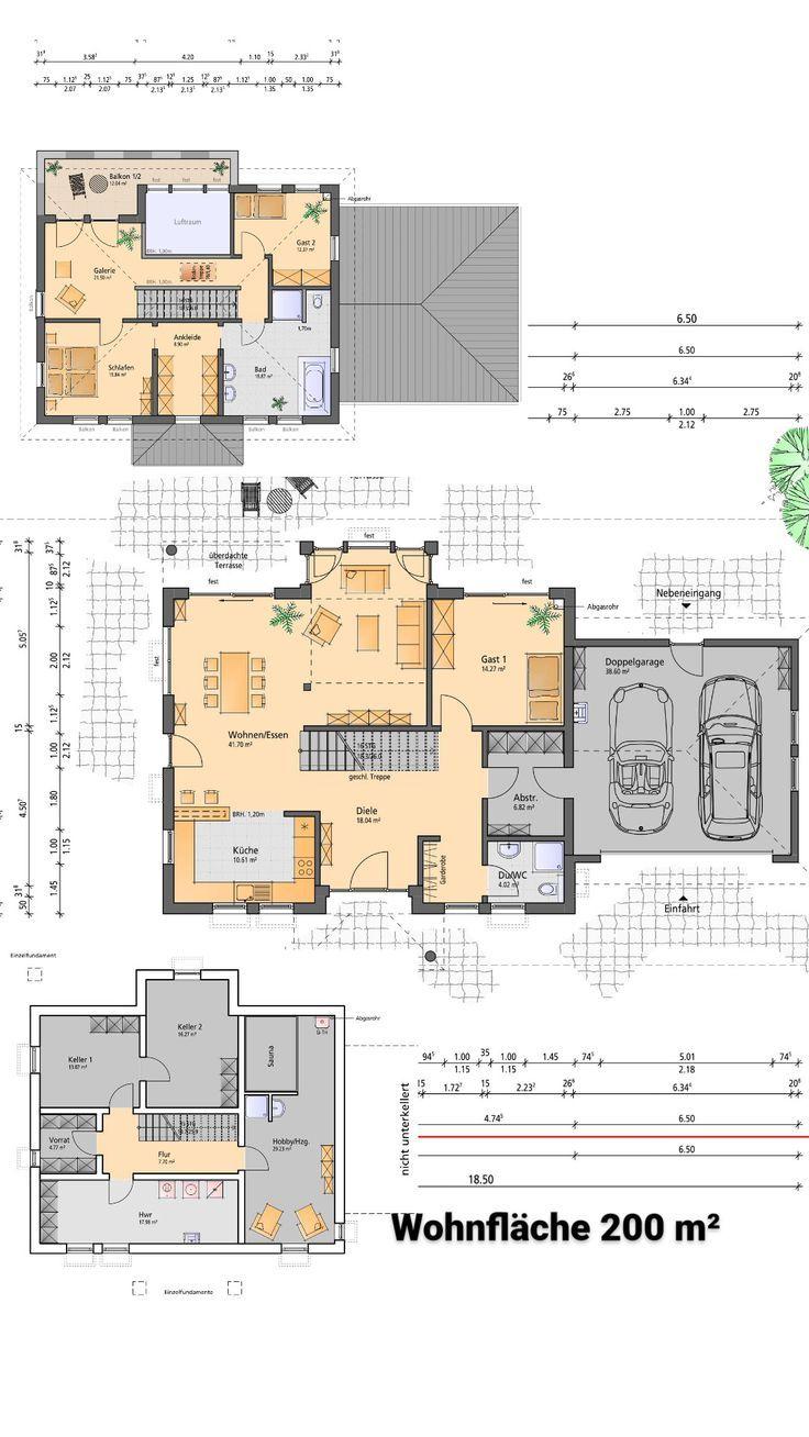 Küchendesign für bungalowhaus grundriss  grundrisse in   pinterest
