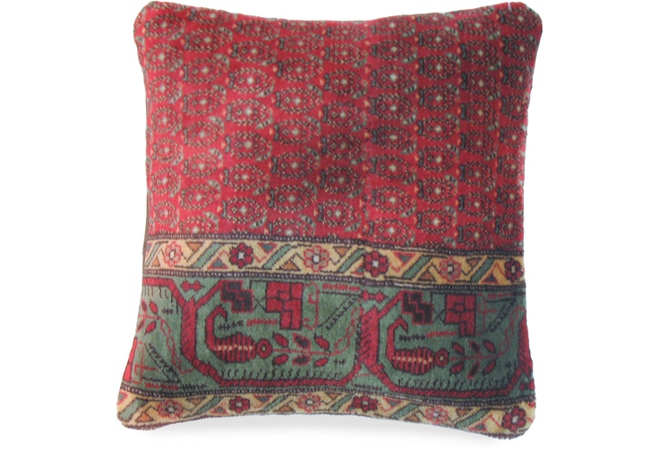 Antique Persian Saraband Pillow from an early 20th century rug.  One Kings Lane - Pillows & Textiles -