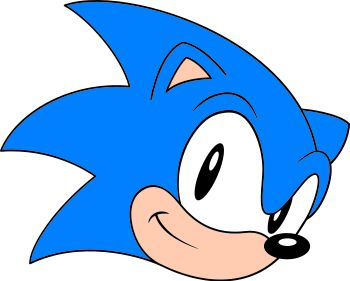 Sonic the Hedgehog image for cupcake tops