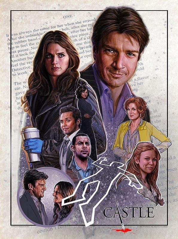 1st Jason Palmer Print for Castle & ABC.