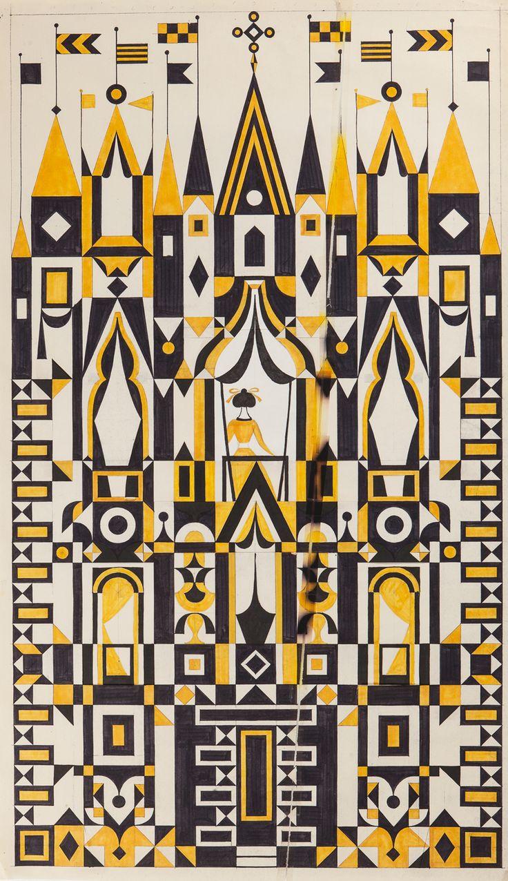 alexander girard - design for textile panel                              …