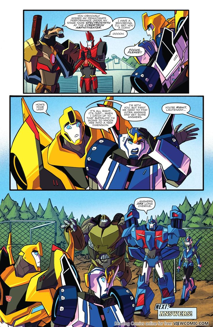 Transformers – Robots In Disguise 003 (2015) | View Comic--- Oh my gosh! Is that Bulkhead, Ultra Magnus and Arcee? AHDF;AHJFHDJFKA;HFJD