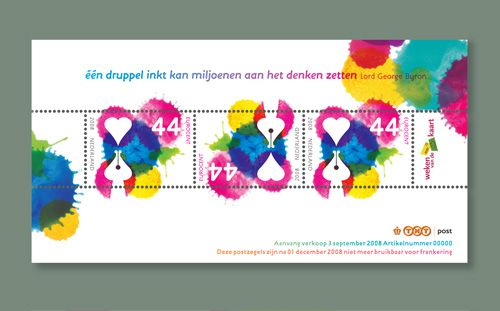 dutch postage stamp by martin , via Behance