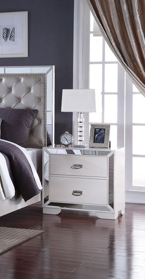 Gloria Cream Nightstand