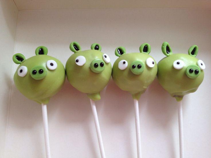 Angry birds possu cakepops