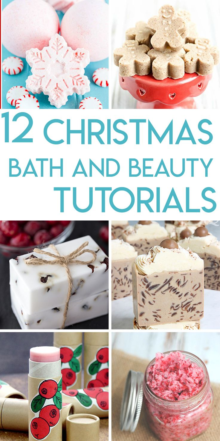 12 Christmas inspired bath and beauty recipes and tutorials