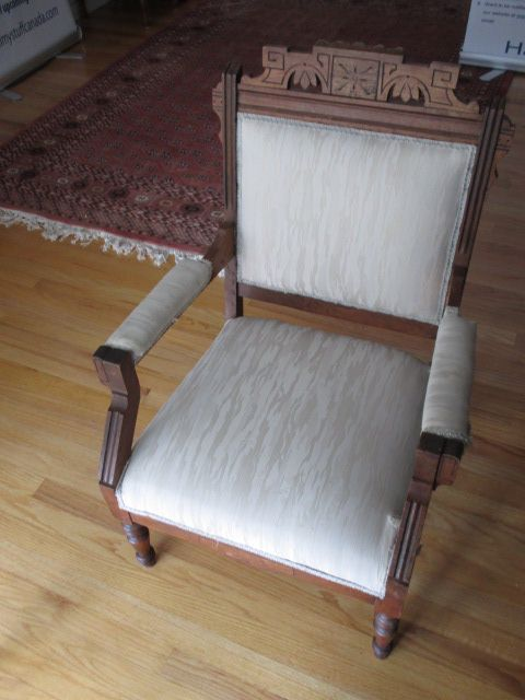 ANTIQUE ARM CHAIR Estate sale from graceful Bell's Corners home – 70 Ridgefield Crescent, Ottawa ON. Sale will take place SUNDAY, May 24th 2015, from 9am to 2pm. Visit www.sellmystuffcanada.com for full sale description and photos of all available items! #70Ridgefield #SMSO