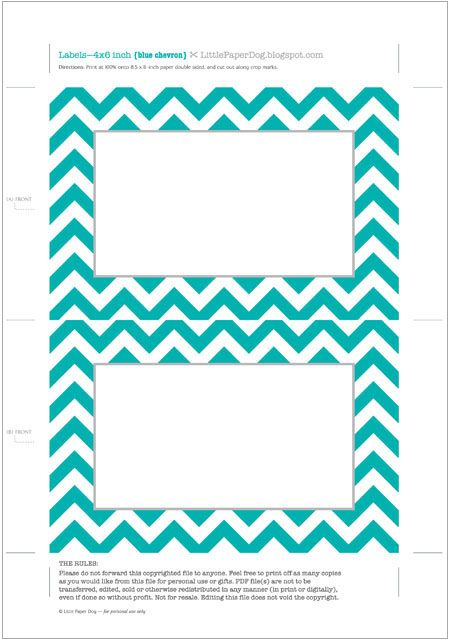 Little Paper Dog: Free printable chevron labels