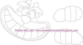 Artes da Lisandra: Molde Gato Risonho