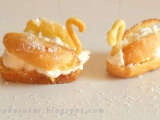 Reteta Ecler cu crema de vanilie si frisca, Usor, Desert