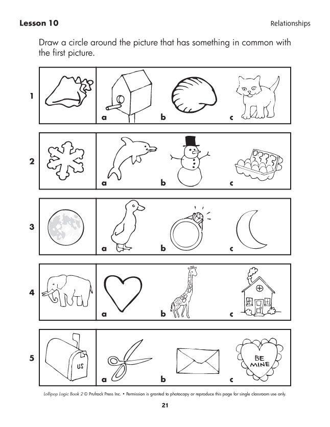 Thinking Worksheets For Kindergarten