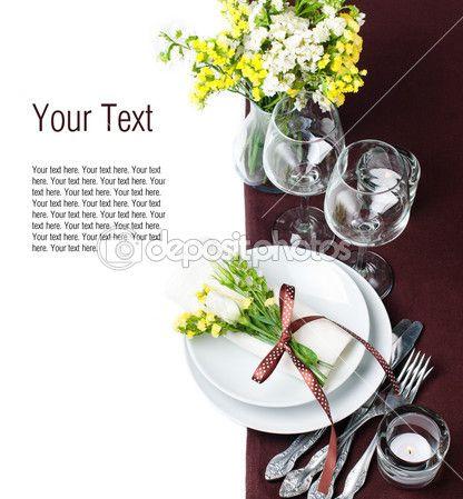 Table Setting Stock Photos, Illustrations and Vector Art | Depositphotos®