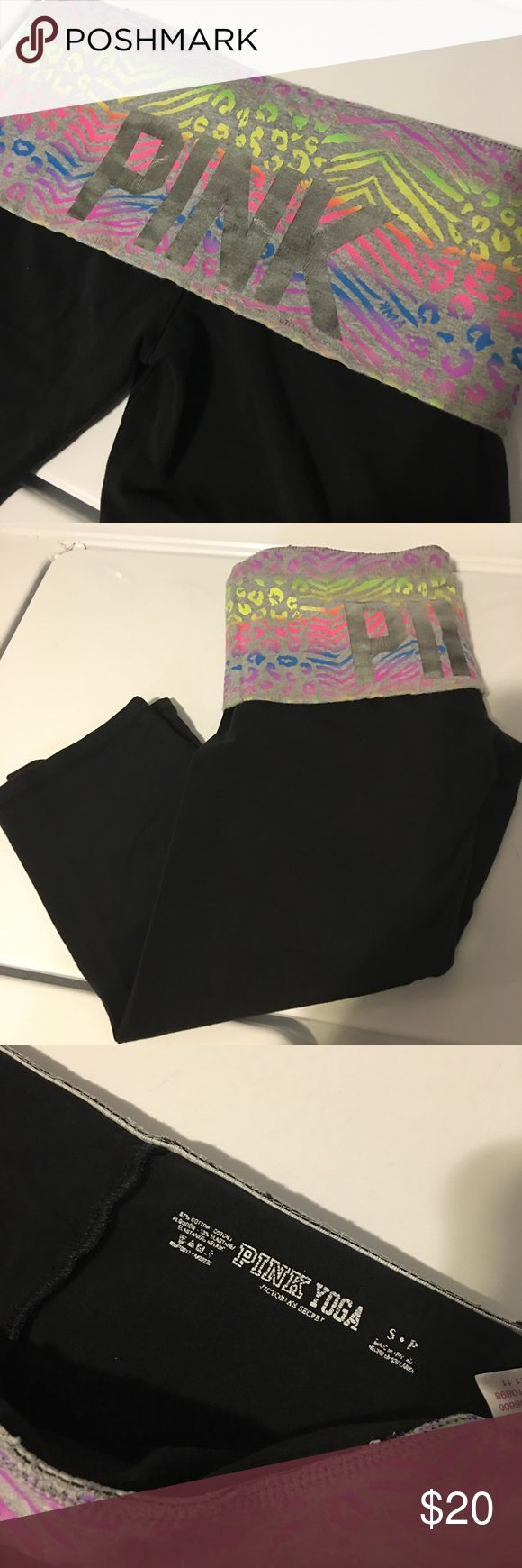 "PINK Victoria's Secret Yoga Capri Pants Open for reasonable offer. The item that you are about to purchase is a Victoria's Secret Pink Yoga Capri Pants. Size Small. In a good condition. To make an offer, please use ""offer"" button. Thank you! PINK Victoria's Secret Pants Capris"