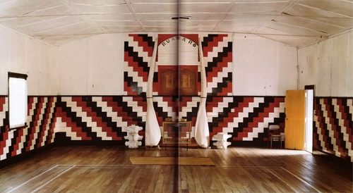 IMAGES OF MAORI WHARENUI TAKEN FROM THE WORLD OF INTERIORS, MARCH 2009; TAKEN BY DEREK HENDERSON