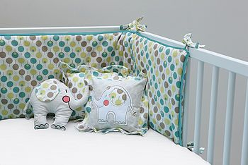 cot bumper set for boy or girl by ella & otto | notonthehighstreet.com