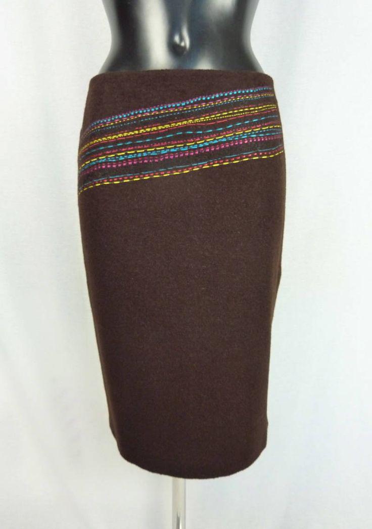 Jupe vintage marron - Christian Lacroix - Jupe en laine - Jupe Christian Lacroix vintage - Jupe en laine marron - Jupe marron chocolat de la boutique TheNuLIFEshop sur Etsy