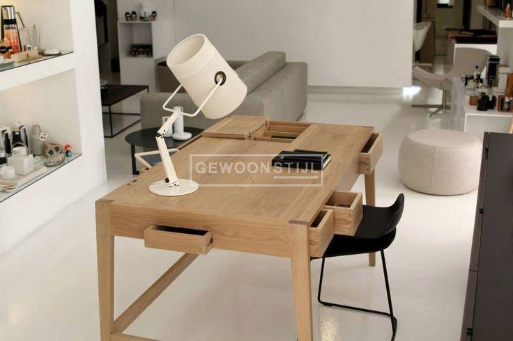 BS01 Oak bureau desk | Warm eiken | WEWOOD | Gewoonstijl | www.gewoonstijl.nl