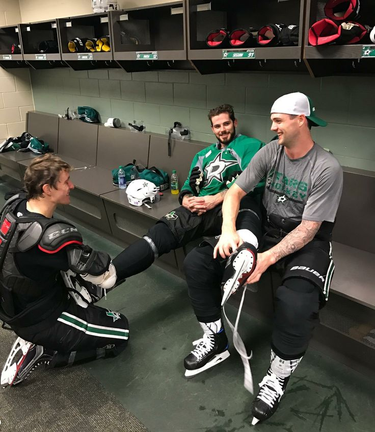 Antoine Roussel, Tyler Seguin and Jamie Benn competed in a shootout at practice today. You guess who the winner was.