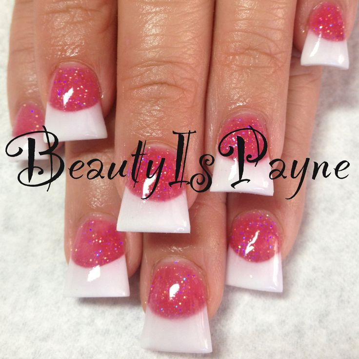 BeautyIsPayne pink and white flare nails