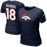 @Fanatics ®  Nike Peyton Manning Denver Broncos #18 Womens Name & Number T-Shirt - Navy Blue  #fanaticswishlist