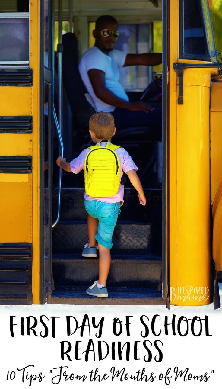 10 Tips for First Day of School Readiness - especially for new preschool or Kindergarten kids - from the mouths of moms who've been there - at B-Inspired Mama