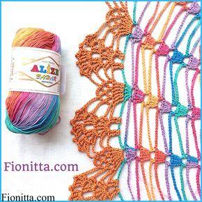 crochet hook: 3 yarn :Alize Diva Batik Design 100% microfiber acrylic 100g/350m(1 ball) pattern:  crochet hook 3,75 yarn: Alize Bahar batik design 100 % cotton ( 1 ball) pattern: