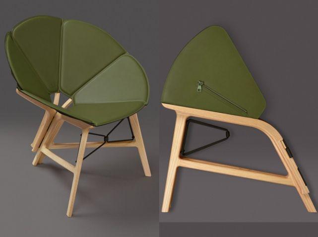Chaise pliable en cuir                                                                                                                                                                                 Plus