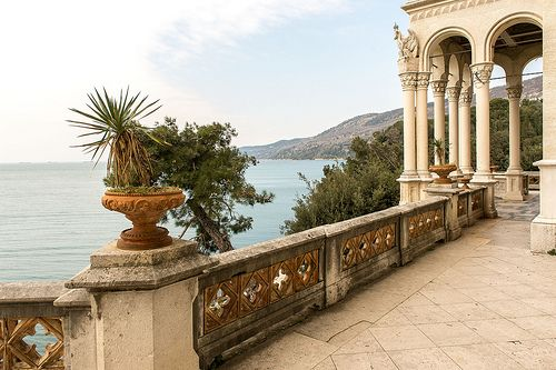 Castello di Miramare, near Trieste, Italy - Looking onto the Gulf of Trieste from the terrace