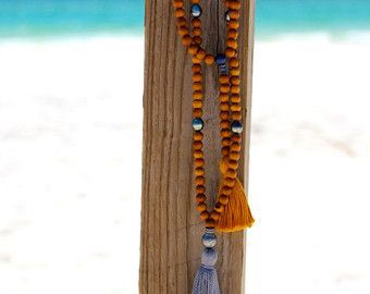 Largo collar de Multi capa de alambre envuelto apatita w