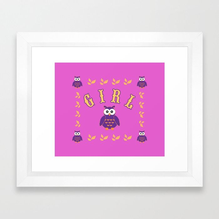 30% Off Wall Art - Ends Tonight at Midnight PT! Owl Baby Girl Framed Art Print. #frameart #babyframedart #baby #framedartprint #newborn #funny #cute #owl #pink #sales #sale #discount #save #deals #kids #home #homedecor #cool #babysroom #awesome #gifts #giftideas #39 #giftsforhim #itsagirl #giftsforher #family #home #homedecor #blue #popular #popart #onlineshopping #shopping #babyshower #homegifts #mommy #society6 #babyshowergifts #homegifts #babyroom #babygirl