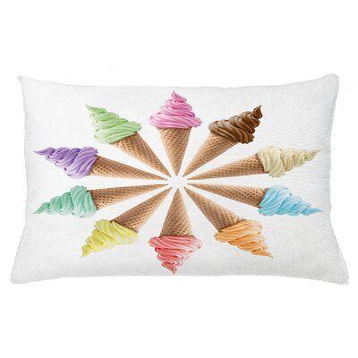 "East Urban Home Ice Cream – Cubierta de almohada lumbar para interiores / exteriores Tamaño: 16 ""x 26""   – Products"